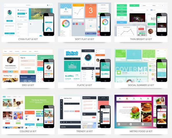mobile web design template