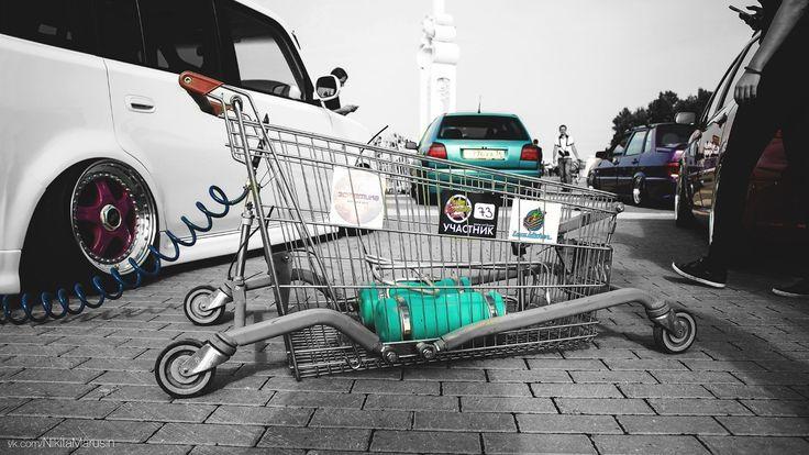 shopping cart air dropped
