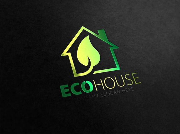 Eco House Logo by eSSeGraphic on @creativemarket