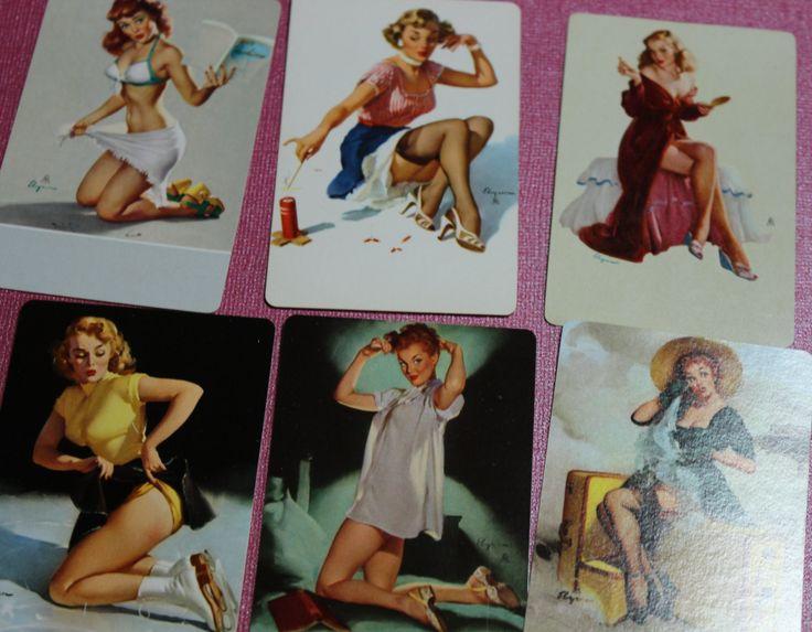 2 Vintage Gil Elvgren Art Playing Cards by CaityAshBadashery on Etsy https://www.etsy.com/listing/163497570/2-vintage-gil-elvgren-art-playing-cards