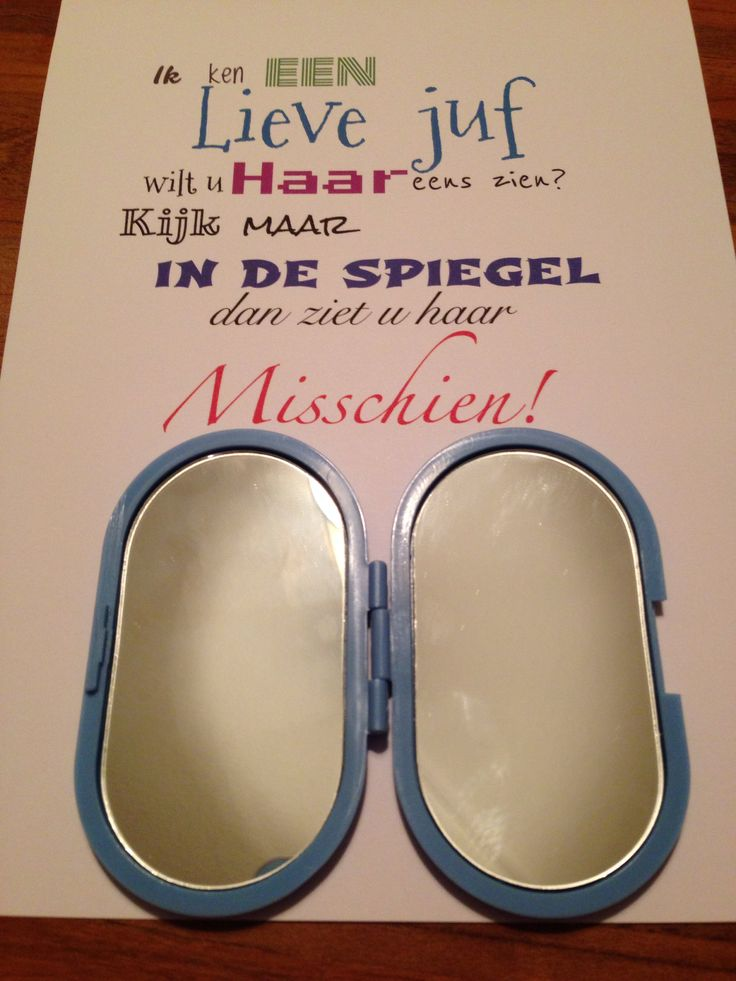 Afscheidscadeautje voor de juf Kijk ook voor gepersonaliseerde bedankjes op www.dewonderwerkplaats.nl