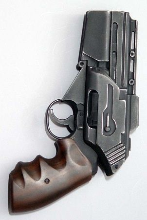 Cool looking prop gun (ready for the zombie apocolypse).
