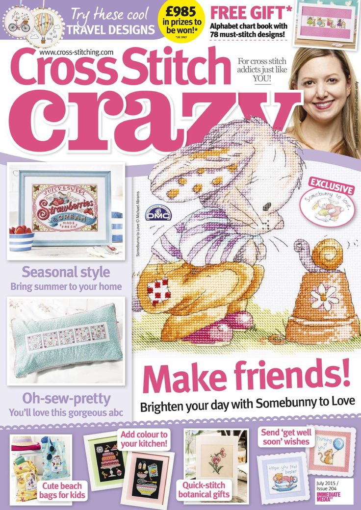 Cross Stitch Crazy Issue 204 patterns pinned Zinio