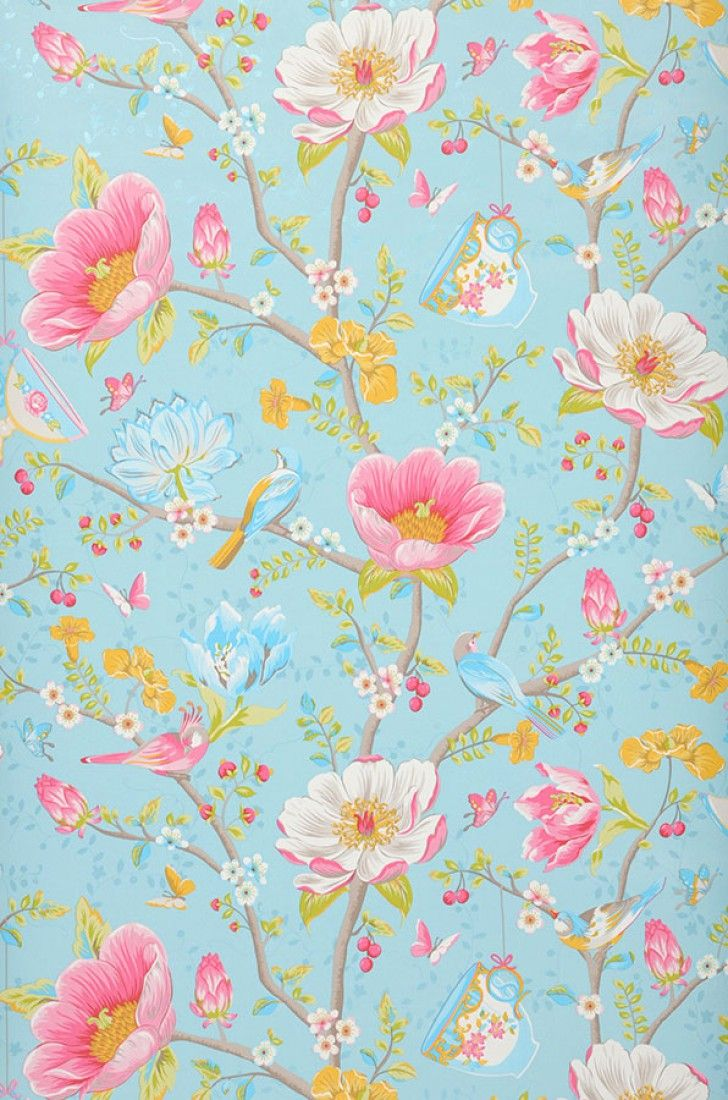 €57,90 Precio por rollo (por m2 €11,13), Papel pintado floral…