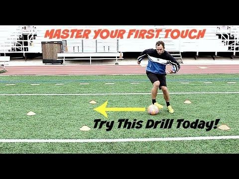 Try out this First Touch Soccer #Drill To help stay calm under pressure.
