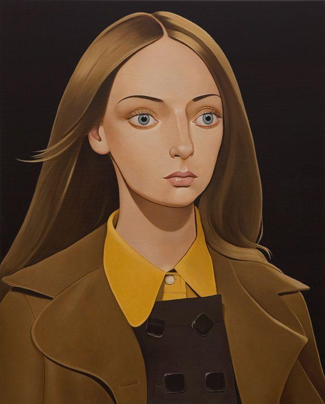 Peter Stichbury, Chloe Crowne, 2011, Acrylic on linen, 39 ¼ x 31 ½ inches, courtesy ofTracy Williams, Ltd.