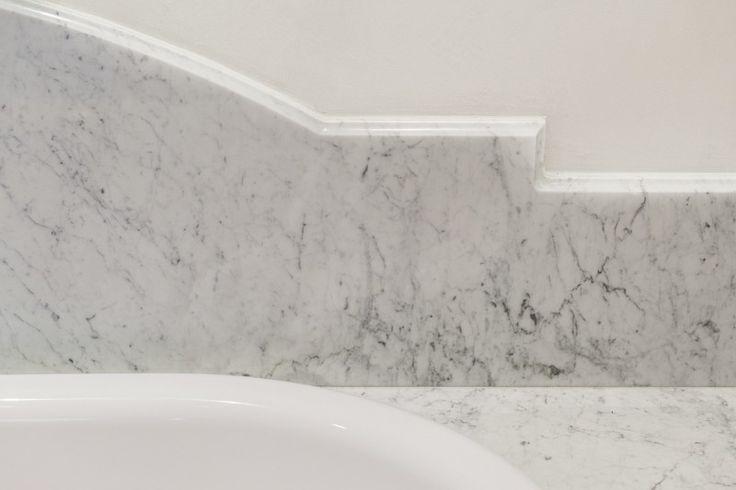 Wykończenie nad wanną. Finishing line above the bathtub.