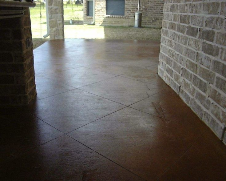 DIY Stained Concrete Patio Ideas With Pictures    Http://sight.seamlessteamwork.