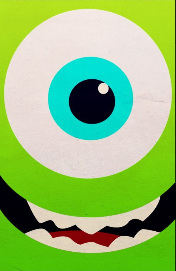 "Mike from ""Monsters Inc"" Disney iPhone background by PetiteTiaras"