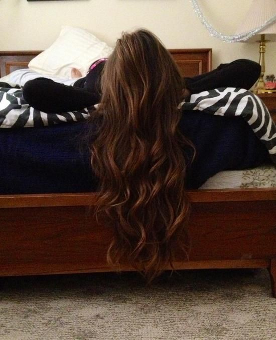 PERFECTION long brown hair LOVE this type of curl - looks so natural yet perfect at the same time