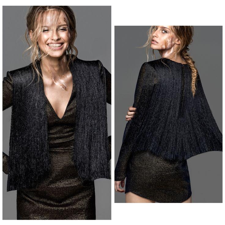 Karolina Pisarek from the Polish edition of Top Model Poland in a dress Thecadess @radekrocinski @piotrsalata #thecadess #thecadess_warssaw #fashion #thecadesscom