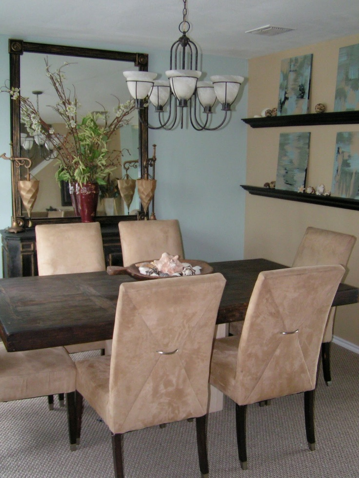 Dining Room Colors Sherwin Williams Part - 27: Love Those Colors! But Thinking About Doing These In Our Bedroom Sherwin  Williams Rain Is