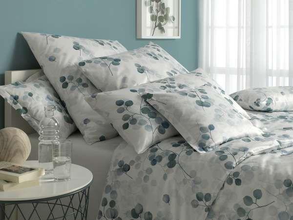 Fresher Look Schlafzimmer Mit Bettwasche Eukalyptus 80x80