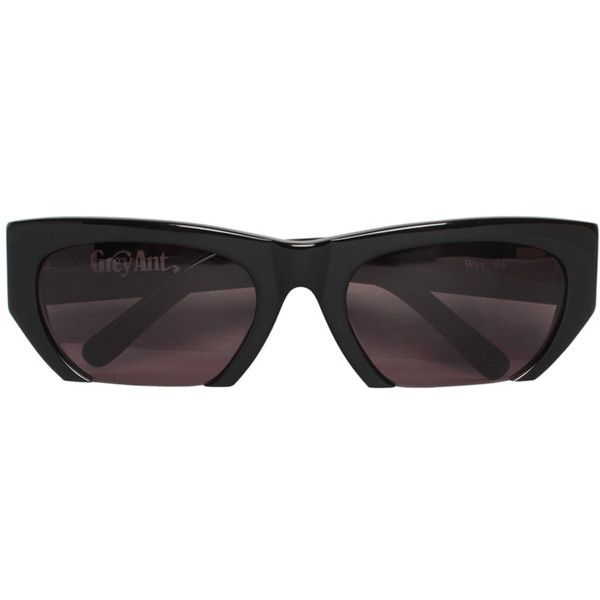 Grey Ant Wax 4 sunglasses (195 AUD) ❤ liked on Polyvore featuring accessories, eyewear, sunglasses, nero, grey ant sunglasses, grey ant, acetate glasses, acetate sunglasses and grey ant glasses