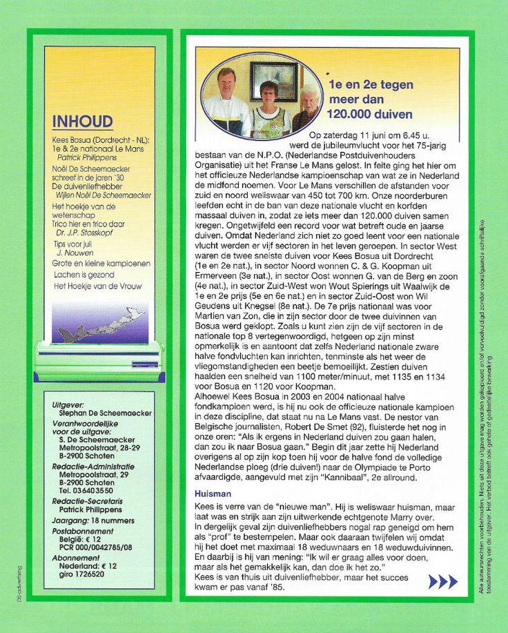 Duifke Lacht 2005 | Website Kees Bosua