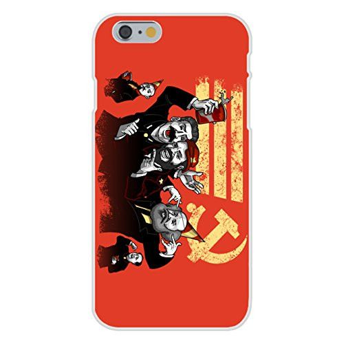 Apple iPhone 6 Custom Case White Plastic Snap On - 'Communist Party' Funny Pun Famous Communist Leaders Partying