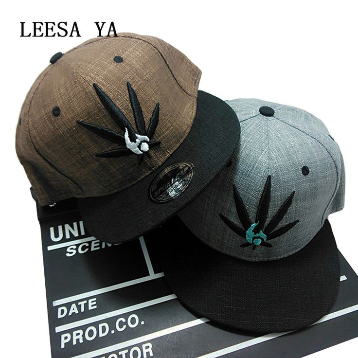 Fashion Weed Leaf Embroidery 3 Color Snapback For Men/Women //Price: $13.78 & FREE Shipping //     #cannabisjewelry