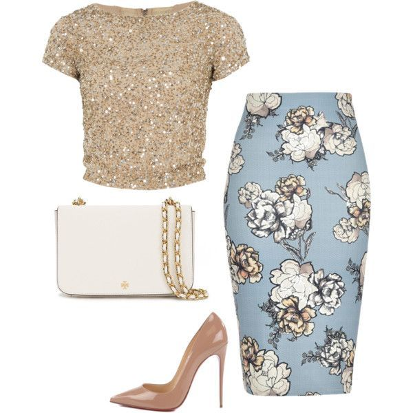 A fashion look from May 2016 by mik0112 featuring Alice + Olivia, River Island, Christian Louboutin and Tory Burch