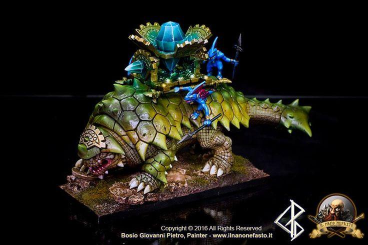 Warhammer FB | Lizardmen | Bastiladon #warhammer #ageofsigmar #aos #sigmar #wh #whfb #gw #gamesworkshop #wellofeternity #miniatures #wargaming #hobby #fantasy