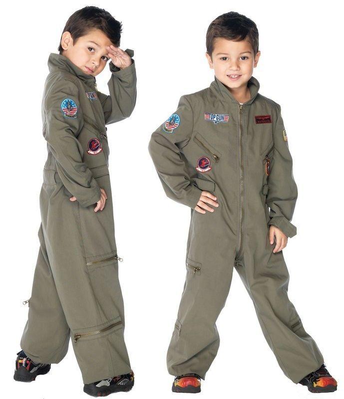 Top Gun Boys Flight Suit Jet Fighter Pilot Halloween Costume Dress Up | eBay