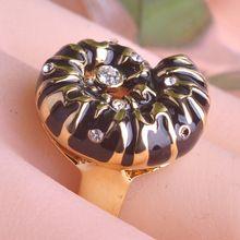 Старинные улитка скидки эмаль темы 18 К золото родием кристалл изящных ювелирных изделий анельконструктор мои заказы о черная пятница уги кольцо AAA подарки(China (Mainland))