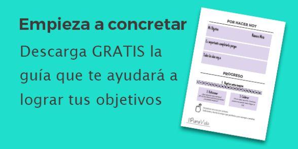 Como terminar lo que empiezas y lograr tus metas. Imprimible para descargar en Español.