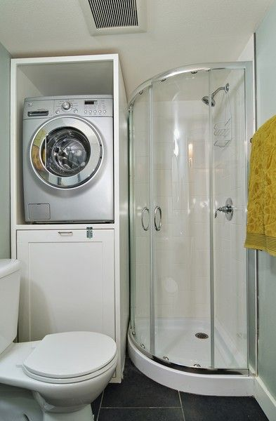 Seattle washington in photos amazing micro apartments for Small bathroom designs with washing machine