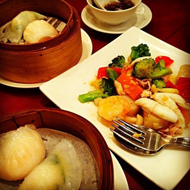レシピとお料理がひらめくSnapDish - 28件のもぐもぐ - 海苔蟹肉スープ・点心・海鮮野菜XO醬炒め by tayuko