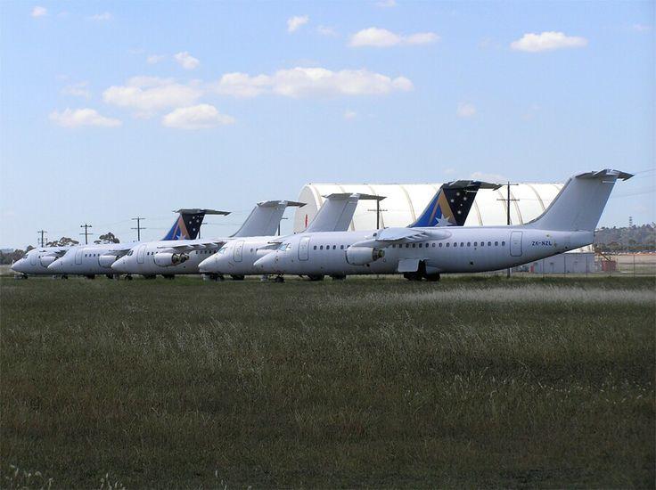Ansett New Zealand & Ex Qantas New Zealand BAe-146s parked up