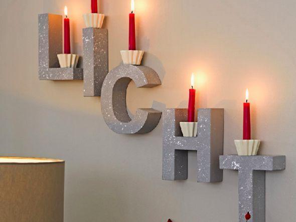 Buchstaben mit roten Kerzen http://www.fuersie.de/diy/deko-ideen/artikel/rote-kerzen-auf-deko-buchstaben-an-der-wand