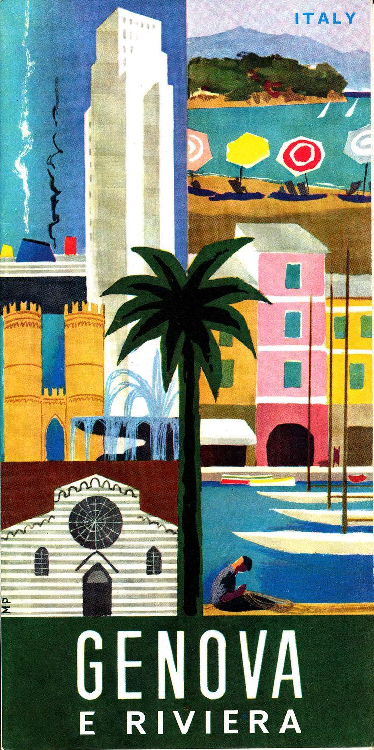"""Opuscolo """"Genova e Riviera"""", prodotto dall'Ente Provinciale per il Turismo di Genova nel 1967"""