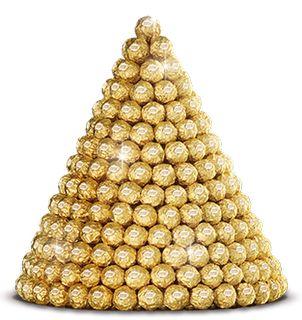 Le logo éponyme du produit traduit le positionnement du produit à savoir festif et chic à travers la couleur doré ; le marron évoquant le chocolat.