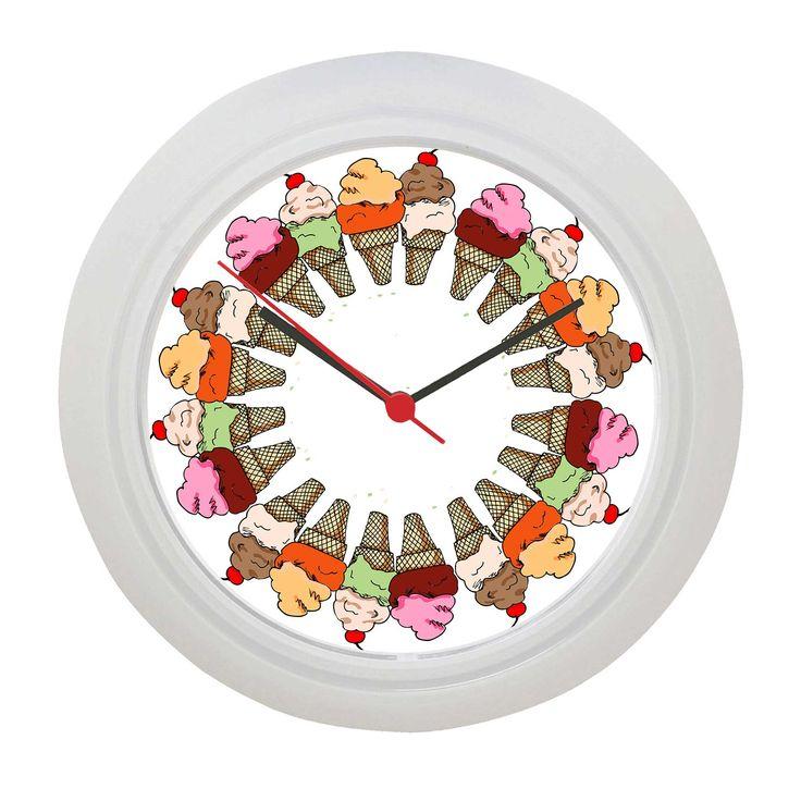 unique Ice Cream Wall Clock