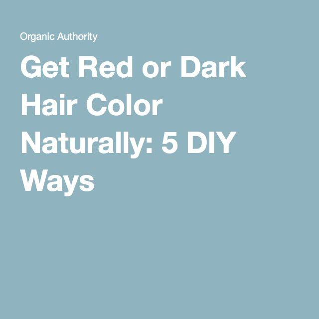 Get Red or Dark Hair Color Naturally: 5 DIY Ways