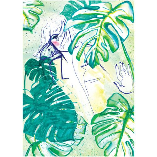"""Spring is in the air"" - fashion illustration 2017 by Karolina Niedzielska"