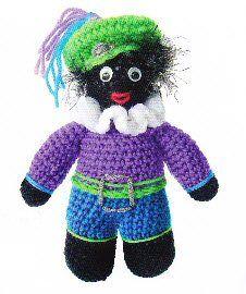 Zwarte Piet, gevonden op : http://prettythingsandmore.files.wordpress.com/2012/10/haakpatroon-zwarte-piet.pdf