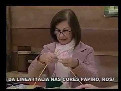▶ Gola Colorida em Tricô by Claudia Maria - YouTube