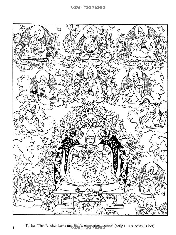 Tibetan Designs (Dover Design Coloring Books): Marty Noble ...