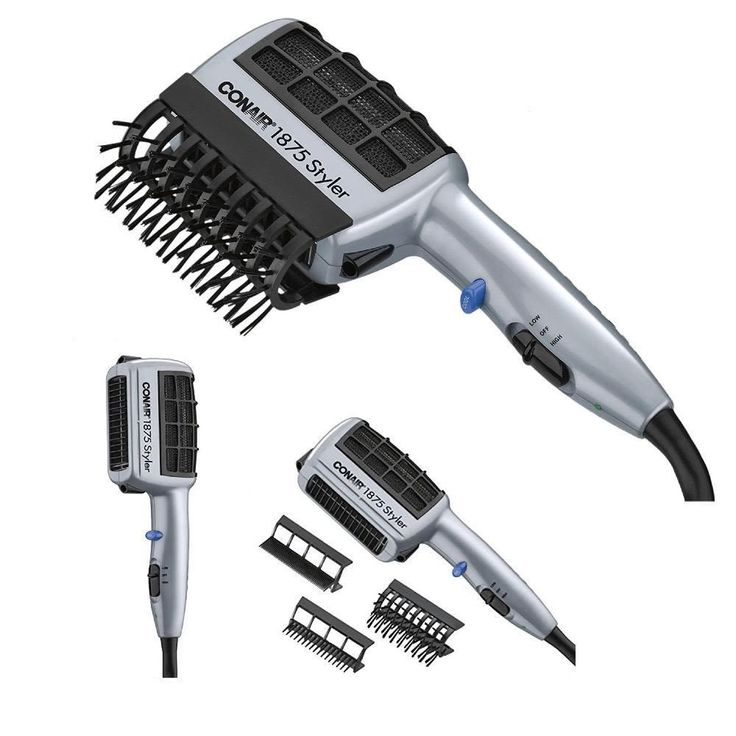 Hair Blow Dryer Styler Straight Curl Silky Comb Brush with Ionic Technology - $18.35 - 18.35
