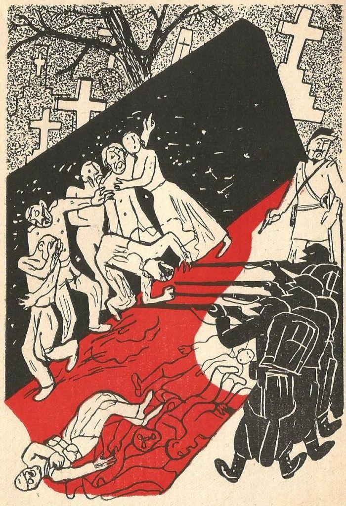ilustr. Władysław Daszewski; Wł. Broniewski, Komuna paryska, W-wa 1947 rok, wyd. książka