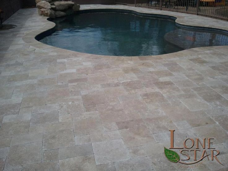 Travertine Pavers And Pool Coping In Desert Hills Az