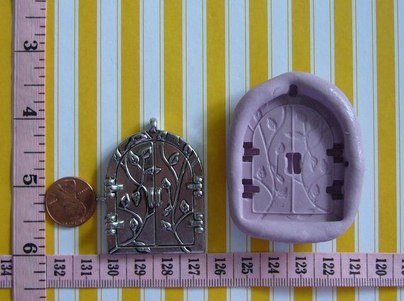 Fairy Door Double doors Silicone Mold Mould by MoldCreationsNmore