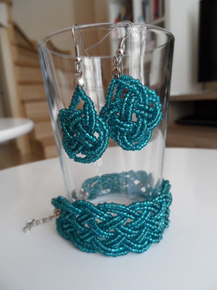 braid earrings and bracelet