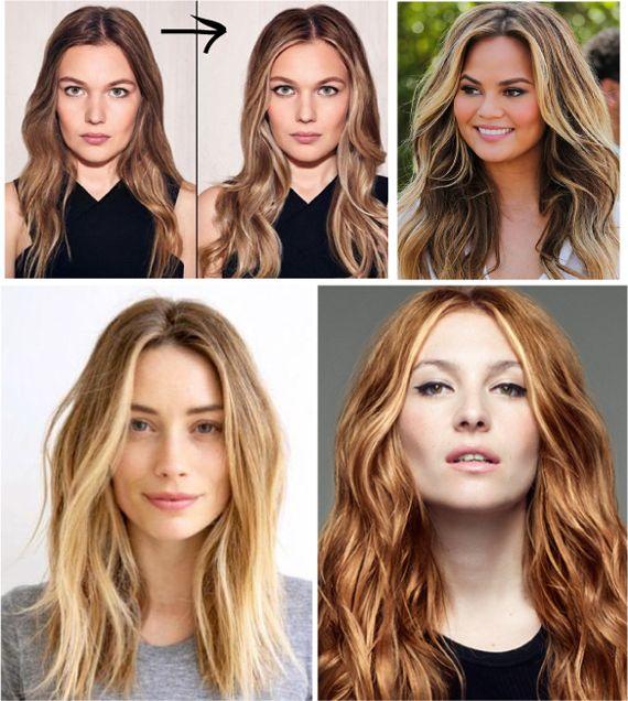 Осветление прядей на русых волосах