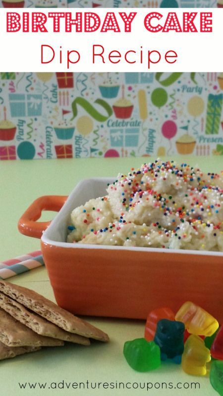 Birthday Cake Dip Recipe - Craving birthday cake but not a single birthday in sight? This simple Birthday Cake Dip Recipe is easy to make and makes a great snack or dessert! Whip it up in less than 5 minutes for under $5.00! It's true! You really can have your cake and eat it too!