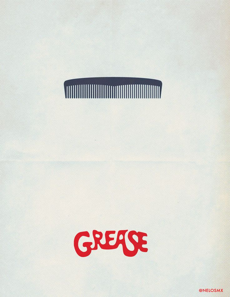 Minimalist Movie Poster: Grease by ~nelos on deviantART
