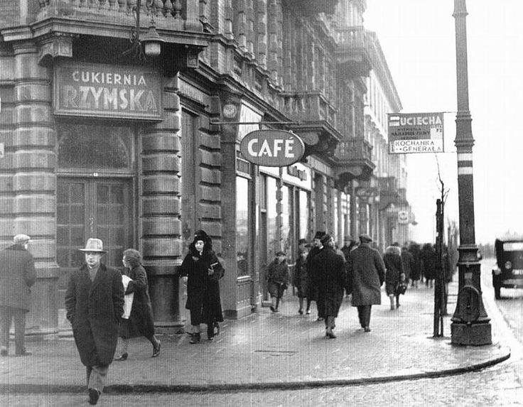 """Roman"" confectionery & Café at Marszałkowska Street    Poland - Warszawa (Warsaw), mid 1930s"