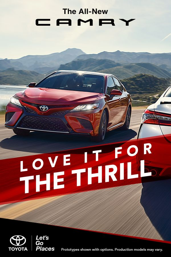 Indulge your sporty side with the 2018 Camry's breathtaking performance. Choose between a new 3.5-liter V6 and an all-new 2.5-liter 4-cylinder gasoline engine, which comes paired to a new Direct Shift 8-Speed Automatic Transmission. It's time to take the long way — and celebrate every moment. Click to learn more.