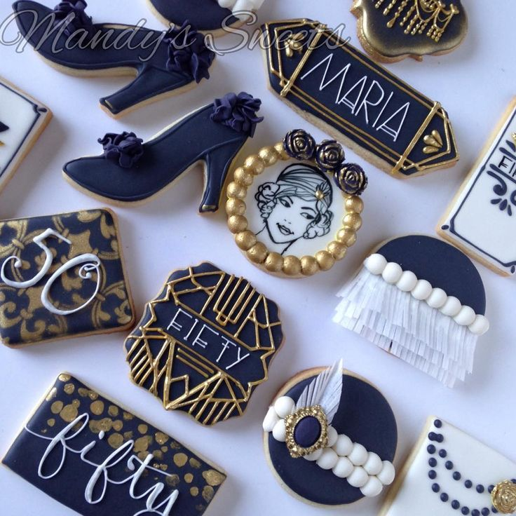 Great Gatsby cookie flapper