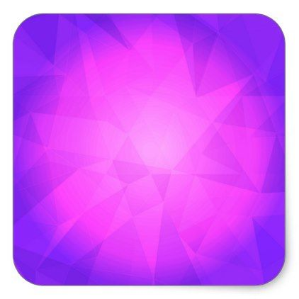 Abstract glow light purple triangle background square sticker - light gifts template style unique special diy
